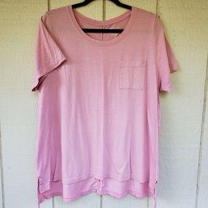 Lane Bryant Pink Pocket T shirt  18/20